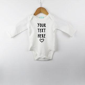 Kies je eigen tekst - Rompertje - Baby's