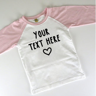 Own text T-shirt - Personalizable - Kids - 0/36 months