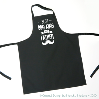 BBQ / Keukenschort | Best BBQ king and Father