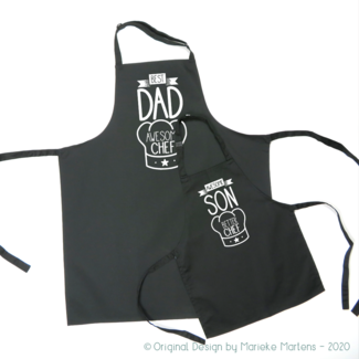 BBQ / Keukenschort set | Vader zoon