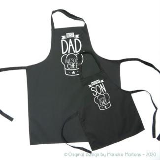 Ensemble de tablier de cuisine / BBQ | Père fils