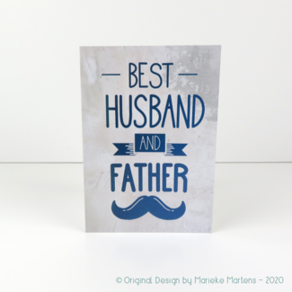 Wenskaart | Best husband and father