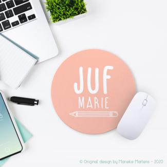 Mouse pad |  Juf/meester met eigen naam (NL only)