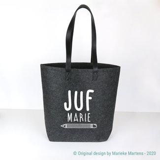 Shopper bag | Juf eigen naam (NL only)