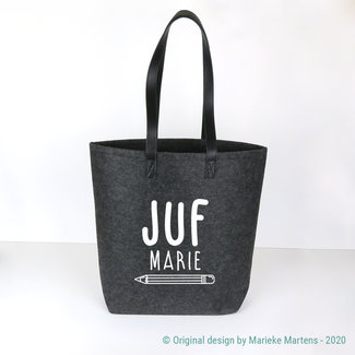 Shopper tas | Juf eigen naam