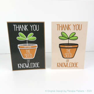 Greeting card | The seed of knowledge