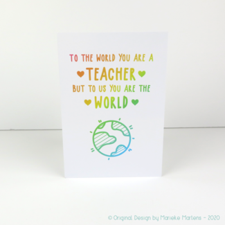 Greeting card | To the world