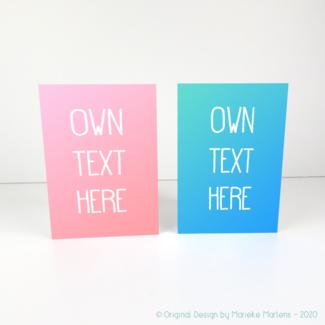 Greeting card | Own text choice