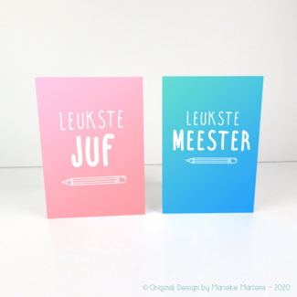 Wenskaart | Leukste Juf/Meester