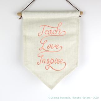 Vlag | Teach, Love, Inspire