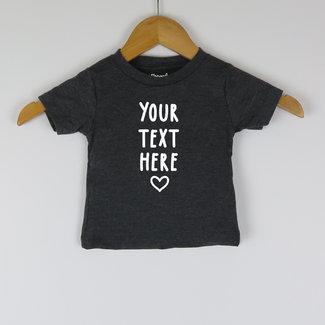 T-shirt | Eigen tekst keuze | 3/24 Maanden