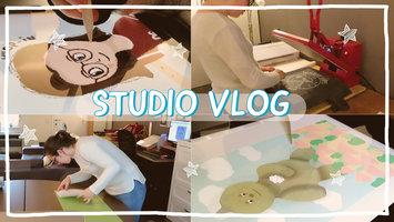 STUDIO VLOG 9 | T-shirts drukken - Nadenken over een kunstgemeenschap - Het leven van een winkeleigenaar