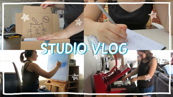 STUDIO VLOG 11 | Making lots of orders - Started a new painting