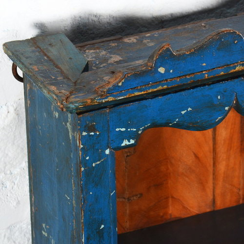 Vintage Adventures Vintage medicijnkastje donkerblauw