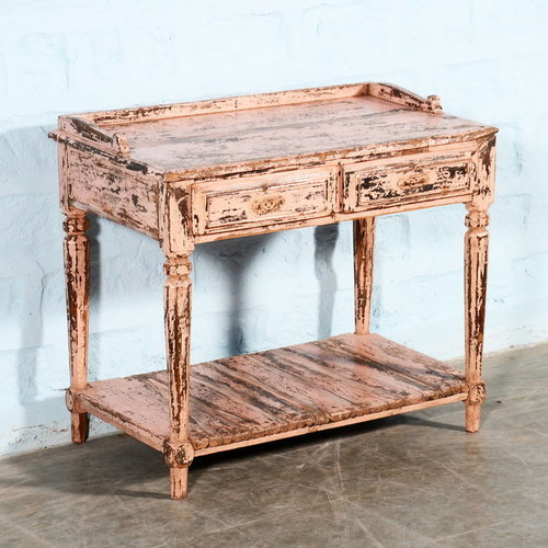 Vintage Adventures Roze sidetable / commode