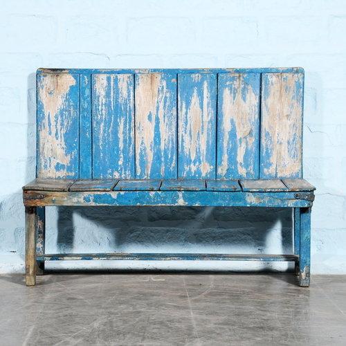 Vintage Adventures Bankje Stationshal blauw