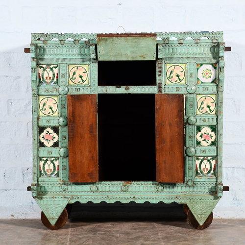 Vintage Adventures Antiek turquoise Damchiya dressoir