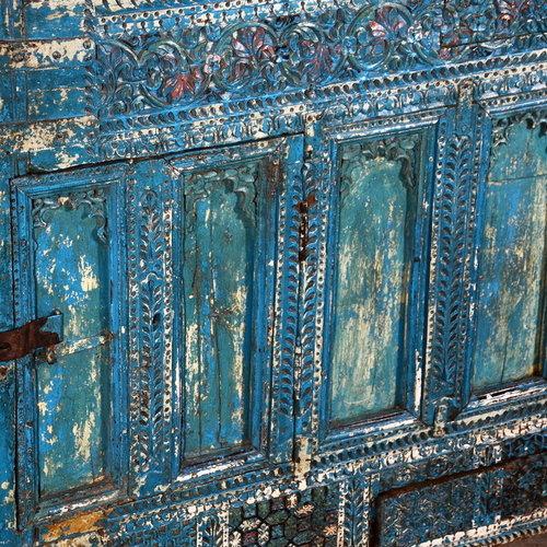 Vintage Adventures Antieke Damchiya Blauw