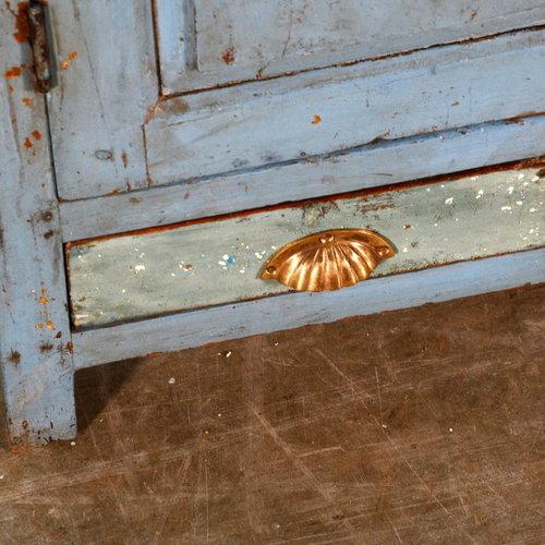 Vintage Adventures Half open kast grijsblauw