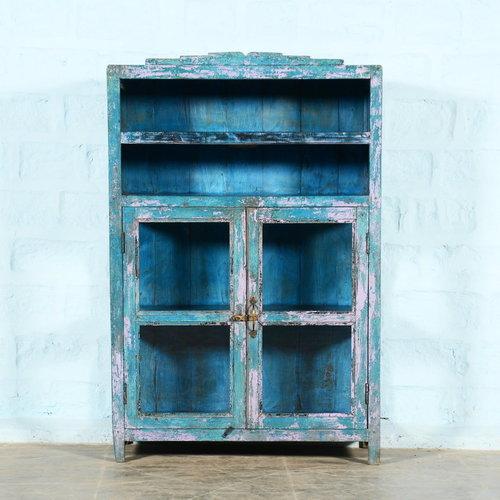 Vintage Adventures Vitrinekast blauw / roze