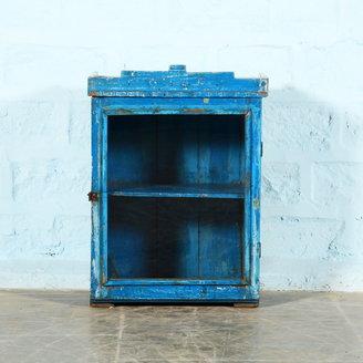 Vintage Adventures Blauw vitrinekastje