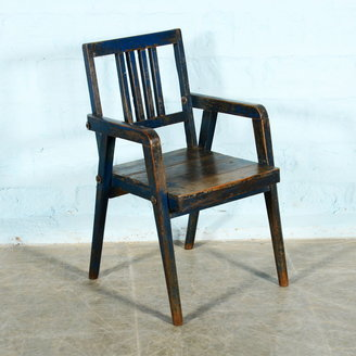 Vintage Adventures Donkerblauwe stoel