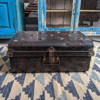 Vintage Adventures Stalen reiskist zwart #10