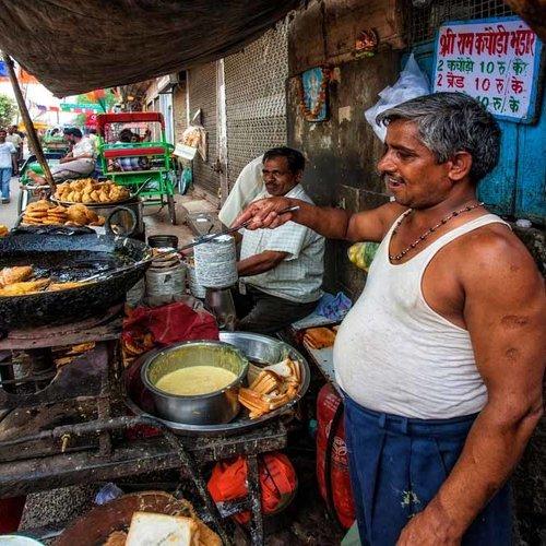 Vintage Adventures Streetfood vuurschaal India