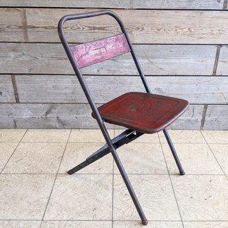 Vintage Adventures Vintage stalen klapstoel #2 rood