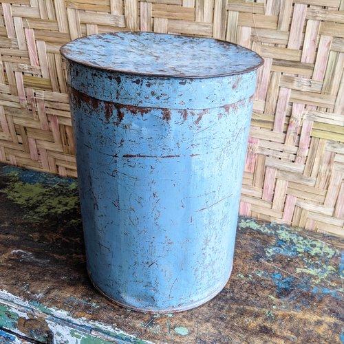 Vintage Adventures Industrieel stalen opbergblik grijsblauw