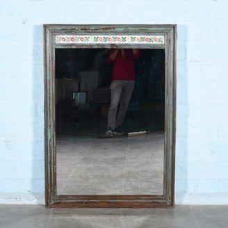 Spiegel grijsblauw tegels