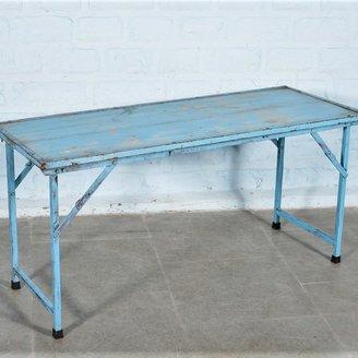 Markttafel India blauw