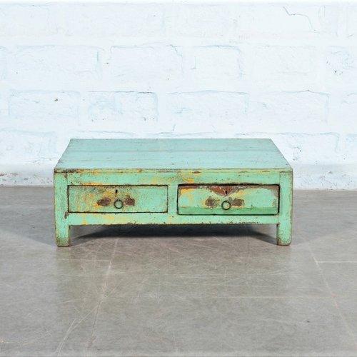 Indiase vintage salontafel turquoise