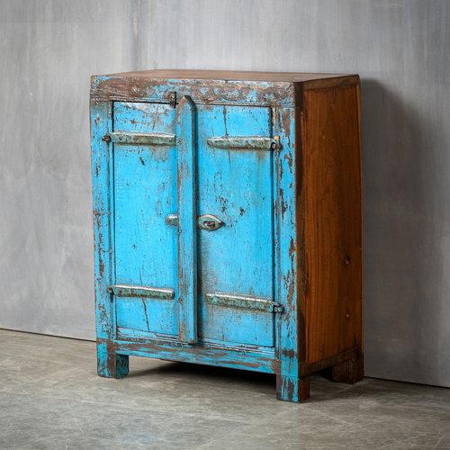 Vintage Adventures Blauw luik kastje