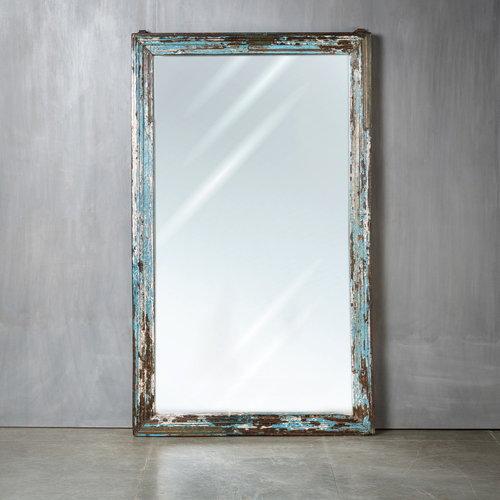 Vintage Adventures XL spiegel patina blauw/paars