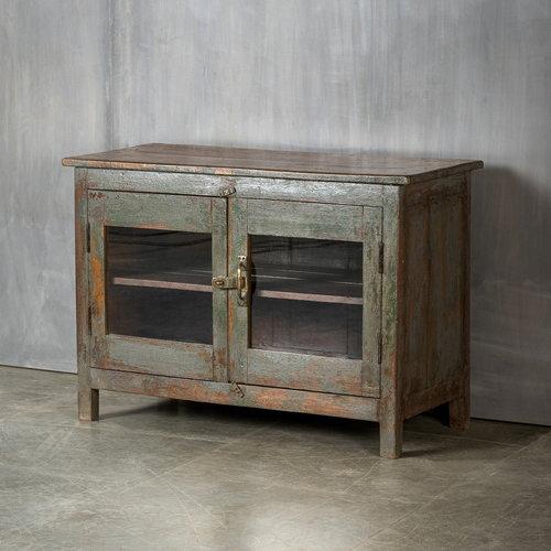 Vintage Adventures Vitrine dressoir grijsblauw
