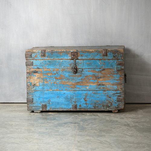 Vintage Adventures Antieke kist blauw