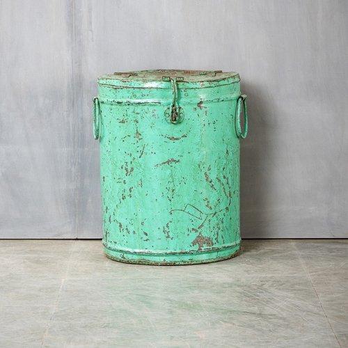 Vintage Adventures Stalen opbergblik turquoise