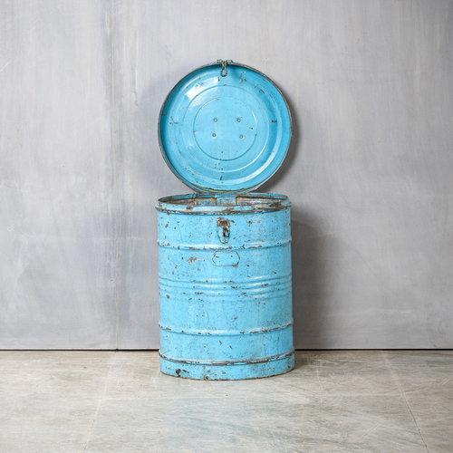 Vintage Adventures Stalen reiskist blauw