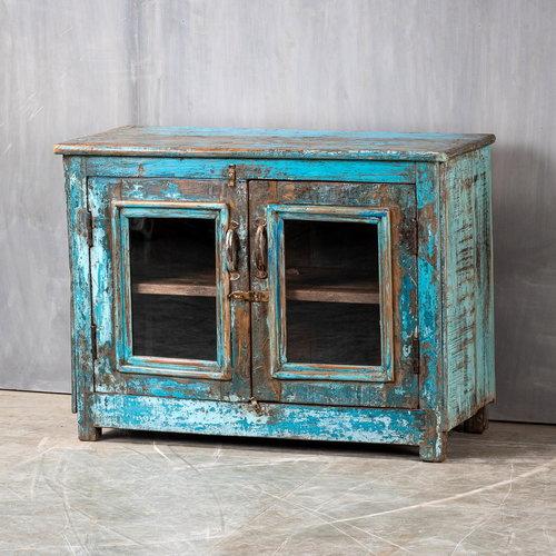 Vintage Adventures Vitrine dressooir blauw