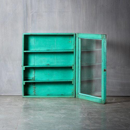 Vintage Adventures Medicijnkastje turquoise L