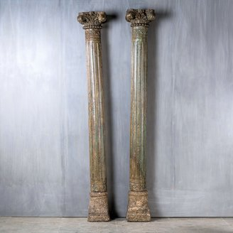 Antieke pilaren grijsblauw
