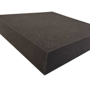 Schaumstoff Schwarz platte RG25  - 140cm x 200cm