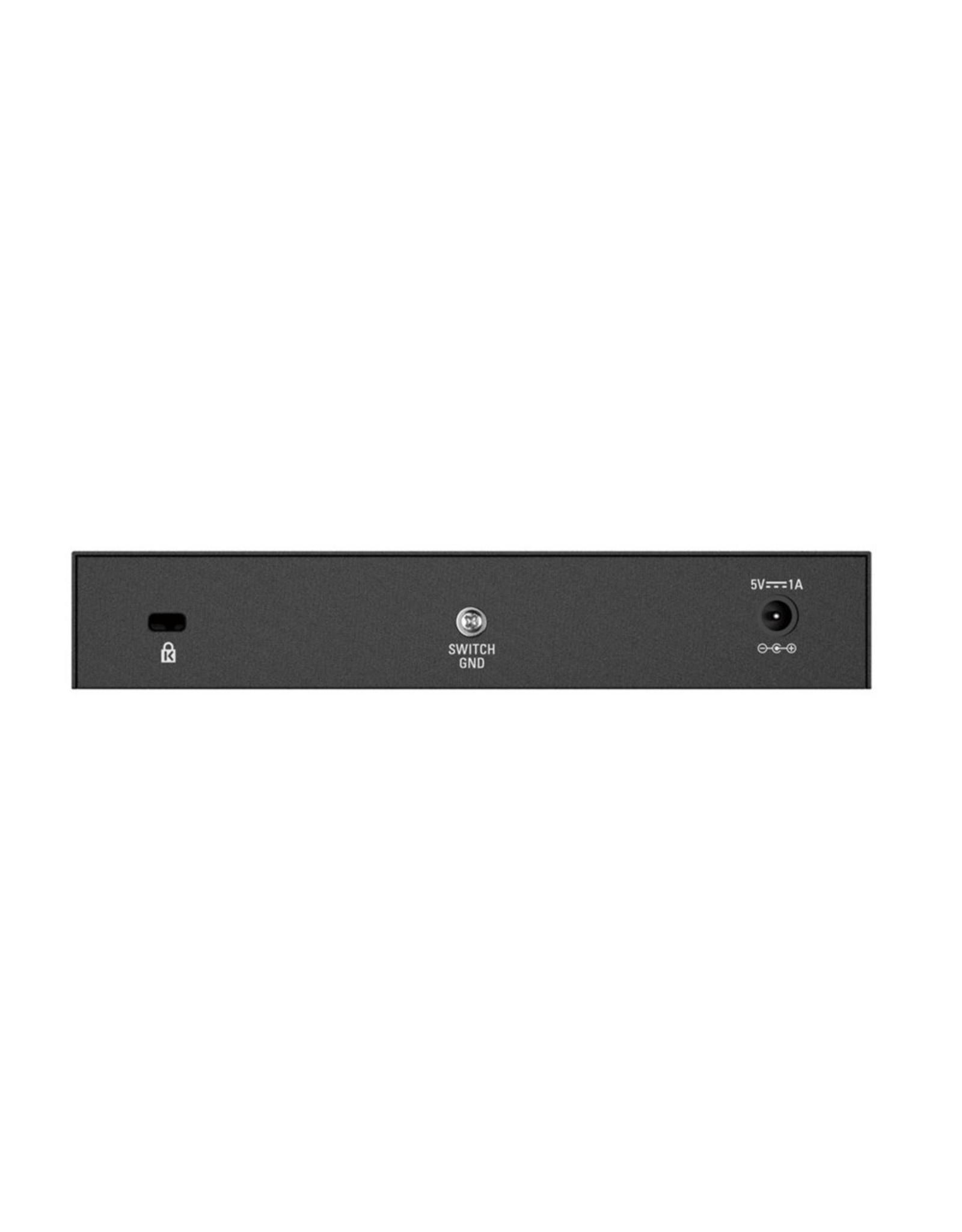 D-LINK D-Link DGS-108 8-Port 10/100/1000 Desktop Switch Black