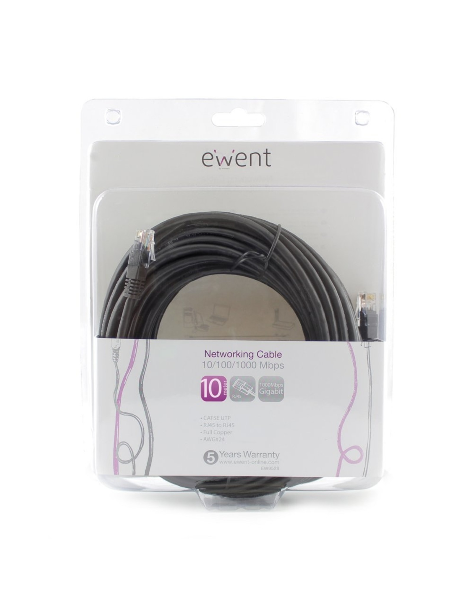 Ewent Networking Cable 10 Meter Black
