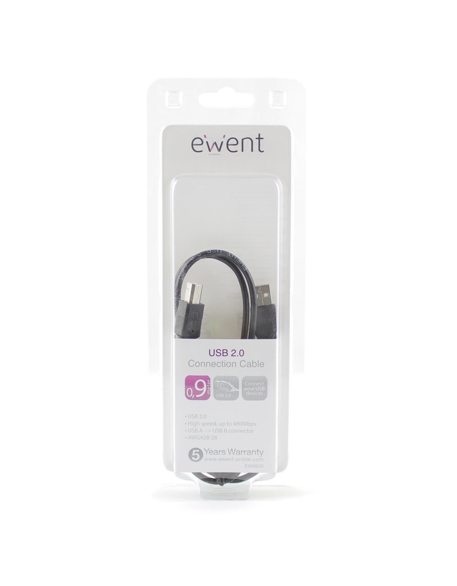 Ewent USB 2.0 Connection Cable 0.9 Meter