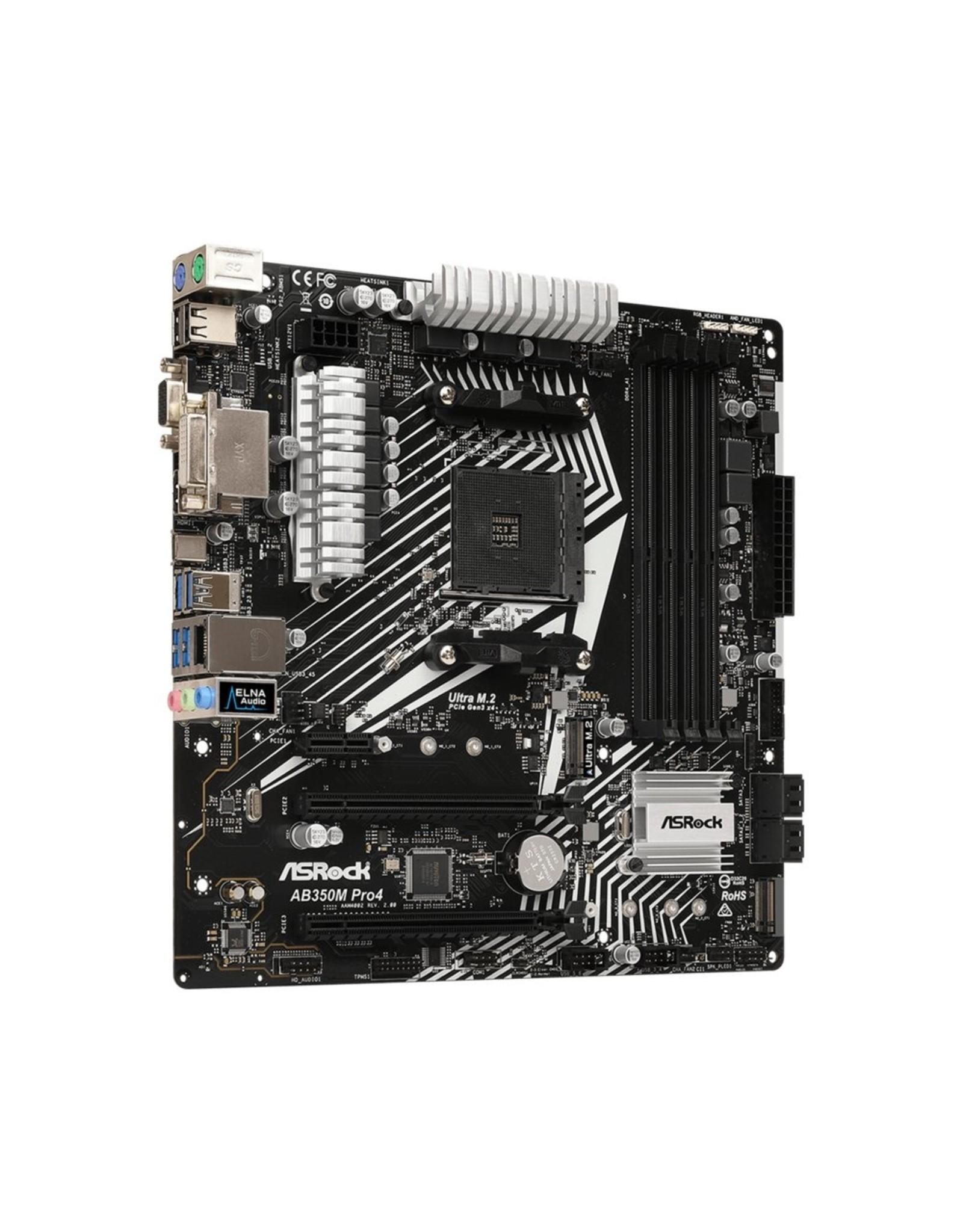 Asrock MB  AB350M Pro4 AM4 R2.0 /4xDDR4 /USB3/mATX