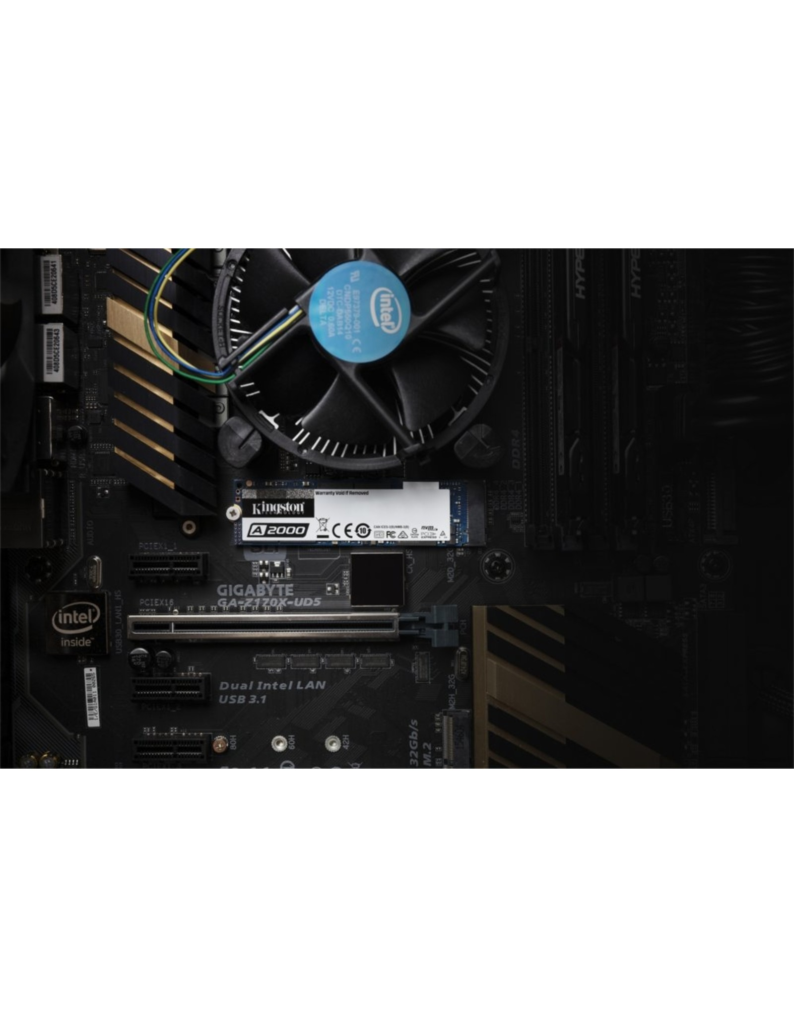 Kingston SSD A2000 500GB NVMe M.2  2000MB/s read 2000/MB/s