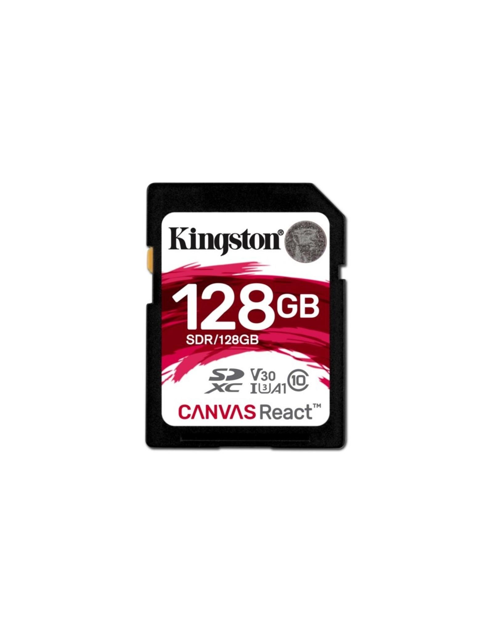 Kingston SDCARD  Canvas React SD Class10 128GB