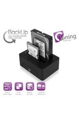 Ewent USB 3.1 Gen1 (USB 3.0) Dual HDD Docking Station